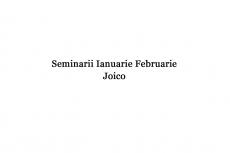 Seminar Joico Laura Plesea Ianuarie Februarie
